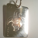 Joker lap  ezüstből, Ékszer, óra, Férfiaknak, Medál, Ékszerkészítés, Ötvös, Póker kedvelőknek készítettem a lapmedált 925-ös ezüstből.23x30 mm-es., Meska