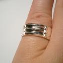 Atlantiszi gyűrű ezüstből, Ékszer, óra, Férfiaknak, Gyűrű, Ékszerkészítés, Ötvös, 57-es méretű a gyűrű.8mm széles.Fényes polírozott felületű,antikolva is kérhető.Ezüstből készült fé..., Meska