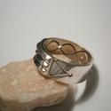 Atlantiszi gyűrű ezüstből, Ékszer, óra, Férfiaknak, Gyűrű, Ékszerkészítés, Ötvös, 55-ös méretű a gyűrű.7,5mm széles.Fényes polírozott felületű,antikolva is kérhető.Ezüstből készült ..., Meska