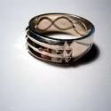 Atlantiszi gyűrű ezüstből, Ékszer, óra, Férfiaknak, Gyűrű, Ékszerkészítés, Ötvös,  61-es méretben van készen ,6,5 és 7,5mm széles atlantiszi gyűrű.Ezüstből készült fémjelzett ékszer..., Meska