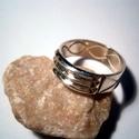 Atlantiszi gyűrű ezüstből, Ékszer, óra, Férfiaknak, Gyűrű, Ékszerkészítés, Ötvös, A gyűrű 925-ös ezüstből készült fémjelzett ékszer 61-es méretű.6,5mm széles.Antikolva is kérhető.Re..., Meska