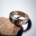 Atlantiszi gyűrű ezüstből, Ékszer, óra, Férfiaknak, Gyűrű, Ékszerkészítés, Ötvös, A gyűrű 925-ös ezüstből készült fémjelzett ékszer 60-as méretű.6,5mm széles,Antikolva is kérhető.Re..., Meska