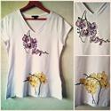 Orchide?s póló, Ruha, divat, cipő, Női ruha, Felsőrész, póló, , Meska