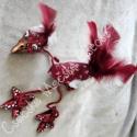 Kazuri: egyedi kerámia marionett madár, Játék, Báb, Festett tárgyak, Kerámia, Saját tervezésű és készítésű kerámia marionett. Fejét, lábait égetett kerámiából készítettem.  Kézz..., Meska