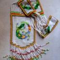 Indián téli nyaklánc, Ékszer, óra, Nyaklánc, Indián téli nyaklánc tarka gyíkkal, eredeti és szokatlan. Ezzel a nyaklánccal lehetetlen észrevétlen..., Meska