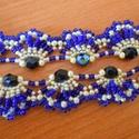 Kék és citromszínű csábítás nyaklánc, Ékszer, óra, Nyaklánc, Egyedi nyaklánc sötétkék és citromszínű gyöngyből, rojtokkal. Valódi csábítás, enyhén régies stílusb..., Meska