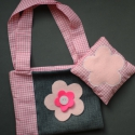 Lányka virágos táska + babzsák, Táska, Játék, Baba-mama-gyerek, , Meska