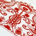 Magyar motívumos strasszos póló, Ruha, divat, cipő, Magyar motívumokkal, Női ruha, Felsőrész, póló, Fotó, grafika, rajz, illusztráció, Női,(100%pamut) nagyobb nyakkivágású kényelmes viseletű pólót szitáztam magyaros motívummal, majd f..., Meska
