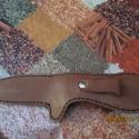 Késtok valódi bőrből , Férfiaknak, Mindenmás, Bőrművesség, -nagyon jó minőségű marhabőrből készült ez a késtok csakis kézi munkával,tehát a varrás is kézi -a ..., Meska