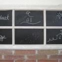 Krétatábla régi ablakkeretből 112 x 48 cm , Dekoráció, Otthon, lakberendezés, Falikép, Képkeret, tükör, , Meska