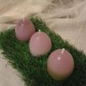 Tojás gyertya, Dekoráció, Otthon, lakberendezés, Húsvéti apróságok, Gyertya, mécses, gyertyatartó, Gyertya-, mécseskészítés, Tavasz ihlette.. Színes, tarkabarka húsvéti tojásgyertyák. Az ünnepi asztal kötelező kelléke. Rende..., Meska