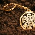 Fém kulcstartó 5, Férfiaknak, Mindenmás, Kulcstartó, Galvano plasztikával készített fém kulcstartó,hátsó oldalon a mintát kísérő szöveggel. mérete:4,5cm..., Meska
