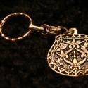 Fém kulcstartó 6, Férfiaknak, Mindenmás, Kulcstartó, Galvano plasztikával készített fém kulcstartó,hátsó oldalon a mintát kísérő szöveggel. mérete:4,5cm..., Meska