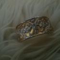Fém( ezüstözött-aranyozott) karpánt 1, Férfiaknak, Ékszer, óra, Karkötő, Anyaga: Zamak öntvény, réz alapon, amely aranyozva és ezüstözve van! Mérete: 5,5cm és 7 cm átmérőve..., Meska