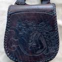 Forgó szarvasos tarsoly TT 105- Steixner, Férfiaknak, Táska, Kézzel fűzött,(egy szálemeléses technikával),kiváló minőségű  marhabőr tarsoly, övre akasztható pánt..., Meska