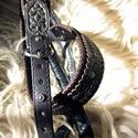 TATÁR öv -Steixner-LeatherART, Férfiaknak, Öv, Bőrművesség, Ötvös, PÁRATLAN AZ EGYEDI DARABOK KÖZÖTT! A TATÁR tarsolyhoz illő Öv!!!  A díszítése és kialakítása magáér..., Meska
