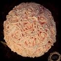 Gyöngy és Barack Kézműves Menyasszonyi csokor, Esküvő, Esküvői csokor, Virágkötés, ¤¤¤ Ez a csokor azonnal elvihető! ¤¤¤ Egyedi kézműves menyasszonyi csokor. Romantikus, vintage hang..., Meska
