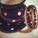 Kávészerelem - Kávés műgyanta karkötő, Ékszer, óra, Karkötő, Ékszerkészítés, Mindenmás, Ez a karkötő fehér foszforeszkáló porból és kávészemekből készült. Az ihletet reggeli habos kávém a..., Meska