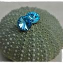 Kék égbolt fülbevaló, Ékszer, óra, Fülbevaló, 8 mm átmérőjű, aquamarine színű Swarovski rivoli adja a báját, ennek az egyszerű, mégis igen mutatós..., Meska