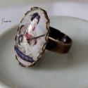 Gésa kedvelőknek, Ékszer, óra, Ékszerszett, Nyaklánc, Gyűrű, Ékszerkészítés, Gésa kedvelőknek készült ez a szett.  Anyaga antik réz.  50cm hosszú nyakláncon,30 x 40 mm medál. A..., Meska