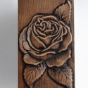 Faragott rózsa Dark, Dekoráció, Otthon, lakberendezés, Dísz, Falikép, , Meska