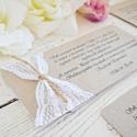 Vintage esküvői meghívó, Esküvő, Meghívó, ültetőkártya, köszönőajándék, Mindenmás, Vintage stílusban készített esküvői meghívó! Méret: 19*10 cm  390,-Ft/db Az ár tartalmazza a szerke..., Meska
