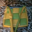 Sárga zöld női táska, Táska, Válltáska, oldaltáska, , Meska