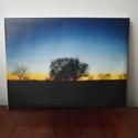 Egyedi vászonkép (naplemente a pusztán), Dekoráció, Kép, Mindenmás, A 30 x 40 cm-es vászonkép saját fotómból készült. Ha más témájú kép tetszene, kérd e-mailben kataló..., Meska