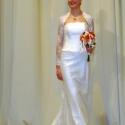 Olasz csipke menyasszonyi ruha, Ruha, divat, cipő, Női ruha, Ruha, Esküvői ruha, Varrás, Ez a tört fehér menyasszonyi ruha több részből áll. Fűző, két részből álló szoknya, csipke boleró, ..., Meska