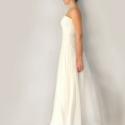 Esküvői ruha kiskabáttal, Esküvő, Ruha, divat, cipő, Menyasszonyi ruha, Esküvői ruha, Varrás,  Az öltözék áll egy kiskabátból, egy füzőből és egy kétrétegű szoknyából. A szoknya és fűző anyaga ..., Meska