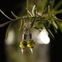 Erdei mohás fülbevaló - palackba zárt természet, Ékszer, óra, Fülbevaló, Ékszerkészítés, Erdei mohás fülbevaló - palackba zárt természet  Varázslatos mohás fülbevaló erdei fényekkel. Más k..., Meska