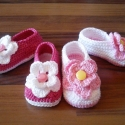 horgolt baba cipőcske, Ruha, divat, cipő, Cipő, papucs, Gyerekruha, Baba (0-1év), Horgolás, A FELTÖLTÖTT TERMÉK talphossza : 8 cm , 10 cm-ig készítem egészen újszülött kortól .   rugalmas, ró..., Meska