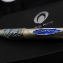 Ötvös munkávak készített egyedi toll, Ékszer, óra, Férfiaknak, Dekoráció, Ékszerkészítés, Ötvös, A legújabb ékszer tollamat mutatom be.A toll teljes része nemesített bronzból van, vaskos erős mass..., Meska