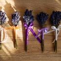 Levendula csokor, Dekoráció, Dísz, Virágkötés, Kézzel készült saját szedésű levendulacsokor. Szárított, enyhe levendulaillatot árasztó csokor.  Pa..., Meska