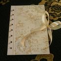 Esküvői vendégkönyv- emlékkönyv, Esküvő, Képeslap, album, füzet, Jegyzetfüzet, napló, naptár, Nászajándék, Mindenmás, Az  A5-s méretben készült naplót ünnepi alkalmakra ajánlom,(pl.: születésnap, esküvői vendégkönyv, ..., Meska