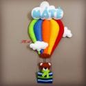 Filc maci a hőlégballonon,filcdísz, ajtódísz,függődísz, kék,zöld,sárga,piros színben, Dekoráció, Baba-mama-gyerek, Dísz, Gyerekszoba, Varrás, Máténak készítettem ezt színes hőlégballont, amin egy maci utazik.  Ha Neked is tetszik, szívesen el..., Meska
