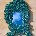 barokk tükör, Bútor, Dekoráció, Otthon, lakberendezés, Képkeret, tükör, Kerámia, Mázas kerámia, jelzetlen antikvitás rekonstrukciója. Mérete 19 x 39 cm. Súlya kb. 1,5 kg. Tükör van..., Meska
