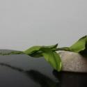 Fekete selyem rózsa szál, Dekoráció, Otthon, lakberendezés, Mindenmás, Virágkötés, Kb. 30cm magas, fekete selyem rózsaszál.  A rózsa feje 25mm-es selyem szalagból készített, kb. 6-8c..., Meska