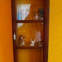 Angyal-lak ll., Bútor, Otthon, lakberendezés, Magyar motívumokkal, Szekrény, Famegmunkálás, Fémmegmunkálás, Ez a szekrényke nem régi ablak felújítása,hanem új öregítése.A doboz és a keret fenyőfából készült,..., Meska
