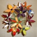Tiffany üveg virágok eladóak!, Otthon, lakberendezés, Dekoráció, Dísz, Kaspó, virágtartó, váza, korsó, cserép, Üvegművészet, Egyedi tervezésű virágok más-más formákkal és különböző színösszeállítással készülnek. A forma és a..., Meska