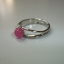 Gyűrű pici muranói üveggel!, Ékszer, óra, Ékszerszett, Nyaklánc, Gyűrű, Ékszerkészítés, Üvegművészet, Pici pink muranói üveg csücsül a gyűrűn!  Ezüst színű alapon van ami állítható.  színe: rózsaszín  ..., Meska