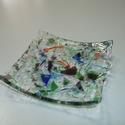 Kis tálka - különleges üvegből, Dekoráció, Otthon, lakberendezés, Dísz, Gyertya, mécses, gyertyatartó, Üvegművészet, Kis üveg tálkát készítettem fusing (rogyasztásos) technikával. Az üveg ellenálló, nem törik könnyen..., Meska