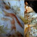 Ködfátyolba burkolt  ősz. (shiffon matt selyemkendő növényi festéssel), Ruha, divat, cipő, Kendő, sál, sapka, kesztyű, Kendő, Sál, Selyemfestés, Varrás, Ezt terméket azoknak a kedves érdeklődőknek ajánlom akik szeretik, értékelik a természetes anyagoka..., Meska