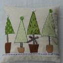Karácsonyi mintás párna, Dekoráció, Otthon, lakberendezés, Lakástextil, Párna, , Meska