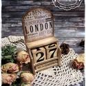 London öröknaptár (kocka naptár), Otthon, lakberendezés, Dekoráció, Naptár, képeslap, album, Naptár, Festett tárgyak, Decoupage, szalvétatechnika, MEGRENDELHETŐ! A képeken látható naptárak már gazdára találtak, azonban, ha Te is szeretnél ilyet v..., Meska