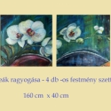 """Orchideák ragyogása -160X40 cm -ingyenes szállítás ! , Képzőművészet, Otthon, lakberendezés, Festmény, Napi festmény, kép, Festészet, FESTMÉNYVILÁG GALÉRIA ÚJDONSÁGA : """" ORCHIDEÁK RAGYOGÁSA """" E HAVI AKCIÓNK keretében a festmény postá..., Meska"""