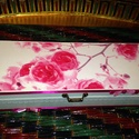 Virágos tároló, Dekoráció, Ékszer, óra, Otthon, lakberendezés, Konyhafelszerelés, Decoupage, szalvétatechnika, Egy virágos tárolót készítettem. Hófehérre festettem kívül, majd lakkoztam és szalaggal, masnikkal,..., Meska