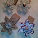 4 db Szalvétagyűrű (virág), Karácsonyi, adventi apróságok, Esküvő, Karácsonyi dekoráció, Esküvői dekoráció, , Meska