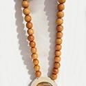 Ónix-márvány a természet gyöngye, Ékszer, óra, Mindenmás, Nyaklánc, Bőrművesség, Egy ónix-márvány kő a maga természetességében... Naturális színek és anyagok harmóniája: bézs, bamb..., Meska