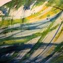 Lendület - festmény, Dekoráció, Képzőművészet, Otthon, lakberendezés, Kép, Festészet, Fapáccal és tussal különleges - strathmore watercolor 300 g-os - papírlapra készült kép. Eredeti ké..., Meska